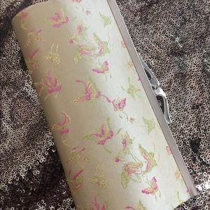 Handbags - Light yellow satin clutch
